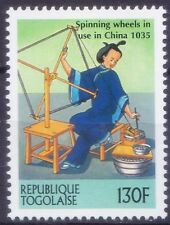 Spinning Wheels 1035 China, Textile Industry, History, Togo 2000 MNH Millennium