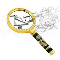 5X 80mm Handheld Magnifier Reading Map Newspaper Magnifying Glass Jewelry Loupe
