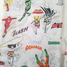 1976 Dc Comics Super Friends Twin Sheets Wonder Woman Marvin Batman Aquaman Vtg