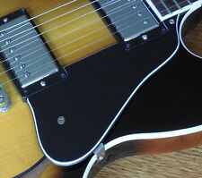Black 5 ply pickguard for Gibson Midtown with Chrome bracket and screws