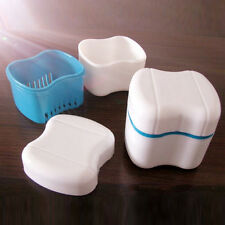 1x Denture False Teeth Box Container Bath Appliance Rinsing Storage Case UK