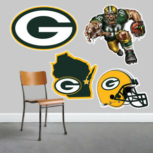Green Bay Packers Wall Art 4 Piece Set Large Size------New in Box------