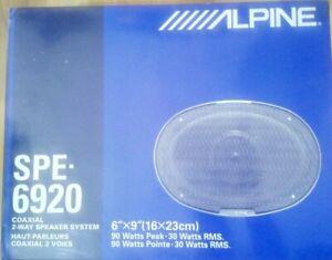 "Altavoces 6"" X 9"" 2 vias 90W Max 4Ohm ALPINE SPE-6920"