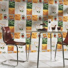Italian Pasta Themed Wallpaper, Printed on Washable Cushioned Vinyl