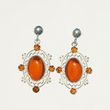 5.8g UNIQUE Natural Authentic Cognac BALTIC AMBER 925 Sterling Silver Earrings