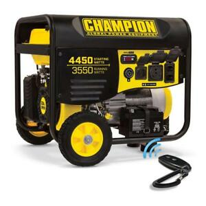 Champion 4450 Peak Watts 3550-Watt Remote Start Portable Gasoline Generator