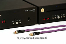 melodika Highend Digital Koaxialkabel 24 Karat vergoldete Stecker Chinch 1,5m