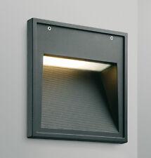 Aplique exterior empotrado en aluminio negro