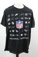 TU NFL Team Apparel Black T-Shirt size XXL