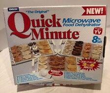 Emson The Original QUICK MINUTE MICROWAVE FOOD DEHYDRATOR 8 PIECES-Bonus Grater
