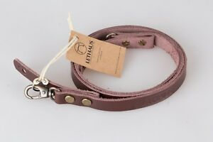 LETHAUS - LEATHER CAMERA STRAP WITH HOOK - (BROWN)