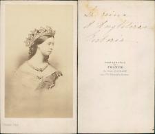 Reine Victoria d'Angleterre CDV vintage albumen.  Tirage albuminé  6,5x