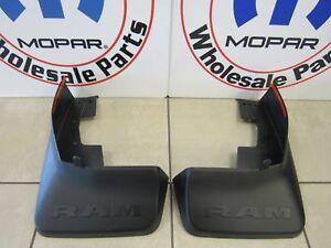 RAM 1500 Rear Molded Splash Guard Mud Flaps W/O Fender Flares NEW OEM MOPAR