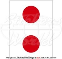 "JAPAN Japanese Flag HINOMARU 100mm (4"") Vinyl Bumper Stickers Decals x2"