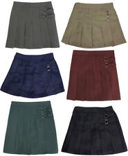 French Toast School Uniform Big Girls Plus Two Tab Pleated Scooter Skirt