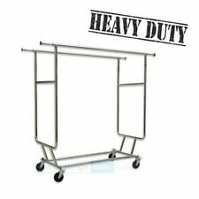 Commercial Grade Garment Clothes Rack - Double Salesman Rack RACK-RCS2