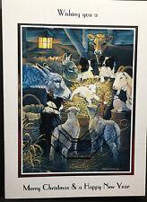 HANDMADE PERSONALISED CUTE ANIMAL DONKEY/COW/SHEEP/DOG/LAMB CHRISTMAS CARD
