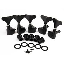 Bass Tuning Pegs Tuners Machine Heads for 5 String Guitar Sealed 2L3R Black Keys