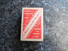 ancien jeu de carte publicitaire sa hilaire machine pour l'agriculture et la fer