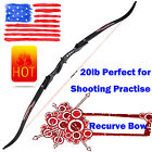 """60"""" Recurve Bow 20lbs ILF Limbs for Archery Beginner Hunting Shooting Practise"""