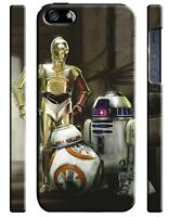 Star Wars BB-8 R2-D2 C-3PO Iphone 4s 5 6 7 8 X XS Max XR 11 Pro Plus Case 165
