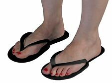 Disposable Black Flip Flops Pedicure Tanning Spa Slippers Pack Of 12 Pairs
