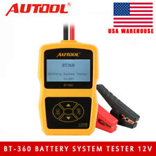 AUTOOL BT-360 12V Vehicle Battery System Tester Car Charging Test Analyzer USA