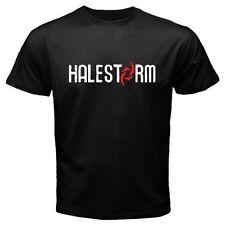 New HALESTORM Rock Band Logo Men's Black T-Shirt Size S to 3XL