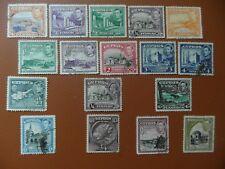 Cyprus 1938 KGVI pictorial defs.(15) to 45 ptrs + KGV (2) ,  fine used. cv£18.65