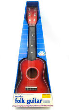 80s Wooden Folk Guitar, Vintage 1989 Toys R Us Kids Music Master Red Instrument