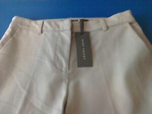 WG703D Mint Velvet Chalk Cotton Cropped Trousers Size 10R