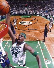 Paul Pierce Signed Boston Celtics 8x10 Color NBA Action Photo JSA Authenticated