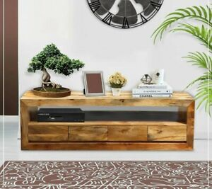 MADE TO ORDER AVALON INDIAN WOODEN ZEN MANGO T.V CABINET 202  200x45x55