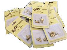 MINIATURE GOLD PLATED BRASS H HINGE 16 PACKETS, HOUSEWORKS NEW