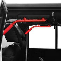 Hooke Road Red Rear Mount Solid Steel Grab Handle for 07-18 Jeep Wrangler JK