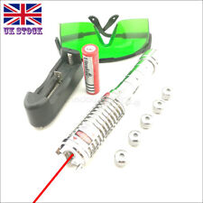 RX9-C 1MW 650nm Red Laser Pointer Lazer Pen & Battery&Charger&Goggles& 5 Caps UK