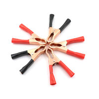 5X 50A Alligator Insulated Clips Cable Wire Test Clamp For Auto Car Batter LD