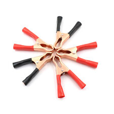 5Pcs 50A Alligator Insulated Clips Cable Wire Test Clamp For Auto Car Batter LA
