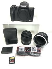 Canon EOS M50 24.1MP Mirrorless Digital Camera 15-45mm STM Lens Great Condition