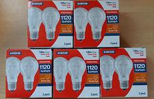 100W WATT ES E27 a Vite in chiara incandescente GLS Lampadina Lampada x 10