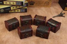 1 pair Wood Handmade Lock Box Storage Organizer Jewelry Bracelet Pearl Case Gift