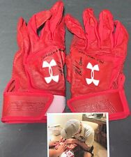 Nolan Gorman St Louis Cardinals Signed 2019 Game Used Batting Gloves 3