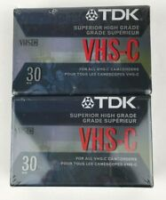 TDK VHS-C 30 Minute Superior High Grade Blank Tapes - Lot of 2 - Sealed