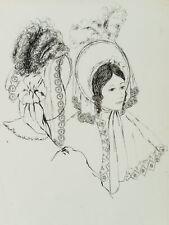 E. KLEPPER (*1906), Elegante Damen mit Bonnet des 19. Jhd., 20. Jhd., Fdrzchng.