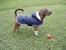 KERBL TEDDY DOG COAT Winter Water Wind Proof Navy Fleece Lined 41cm Back Lengh