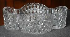 BREATHTAKING HVY CUT LEAD CRYSTAL QUATREFOIL SHAPED CENTERPIECE BOWL STAR MOTIF