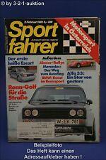 Sportfahrer 2/81 Turbo Golf Sapporo 2.0 GSR Mazda 626