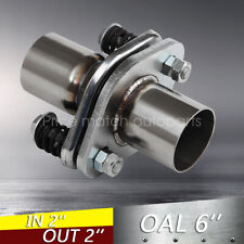 """2"""" ID Stainless Exhaust Spherical Joint Spring Bolt Flange Pipe Repair"""