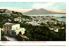Panorama View-House-Buildings-City of Naples-Napoli-Italy Vintage Postcard