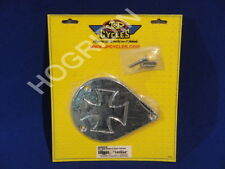 tear drop S & S air filter cleaner cover insert Harley softail fxr maltese cross